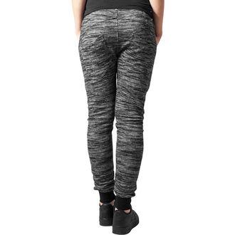 pantaloni (pantaloni della tuta) URBAN CLASSICS - Fitted Melange - blk / gry, URBAN CLASSICS
