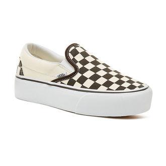scarpe da ginnastica basse donna - UA CLASSIC SLIP-ON P Blk WhtCh - VANS, VANS