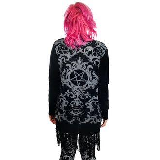 maglione (cardigan) TOO FAST - BAROQUE VICTORIAN GOTHIC PENTAGRAM LONG0FRINGE, TOO FAST