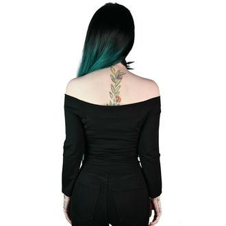 Maglietta da donna a maniche lunghe KILLSTAR - Witch Queen Bardot - Nero, KILLSTAR