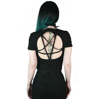 Maglietta da donna (top) KILLSTAR - Witch Queen Pentagram Crop - Nero, KILLSTAR