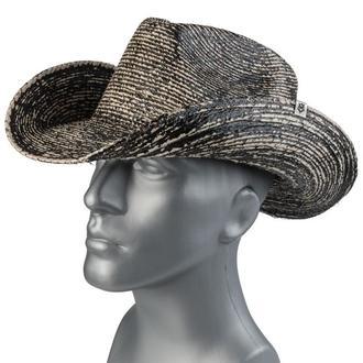Cappello WORNSTAR - Hellrider Black & Natural Rocker Cowboy, WORNSTAR