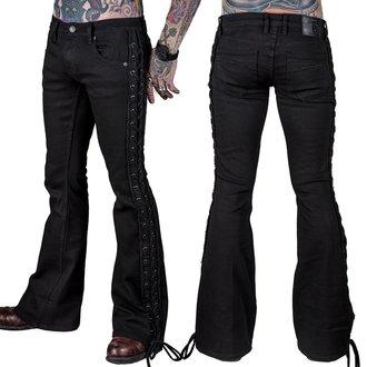 Jeans WORNSTAR - Starchaser - Black Denim Flare Cut - Nero, WORNSTAR