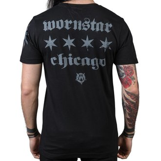 t-shirt hardcore uomo - Chicago Core - WORNSTAR, WORNSTAR