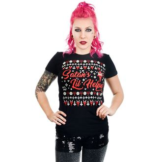 T-shirt gotica e punk donna - SATAN'S LIL HELPER EVIL CHRISTMAS BABYDOLL - TOO FAST, TOO FAST