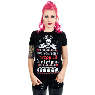 T-shirt gotica e punk donna - HAVE YOURSELF A CREEPY LIL CHRISTMAS BABYDOLL - TOO FAST, TOO FAST