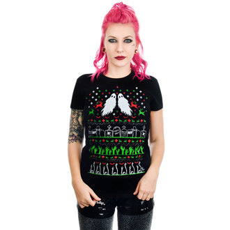 T-shirt gotica e punk donna - GRAVE ROBBER ZOMBIE XMAS VS HALLOWEEN BABYDOLL CHR - TOO FAST, TOO FAST