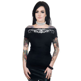 T-shirt gotica e punk donna - FOXY OFF THE SHOULDER - TOO FAST