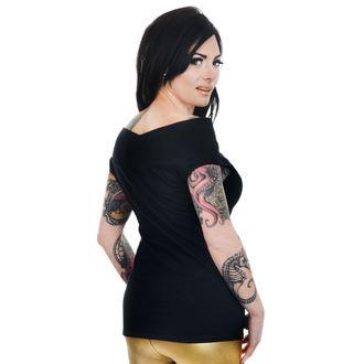 T-shirt gotica e punk donna - FOXY OFF THE SHOULDER - TOO FAST, TOO FAST