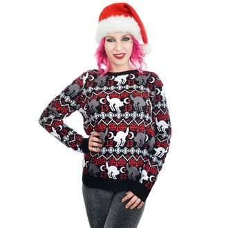 Maglione da donna TOO FAST - BLACK CAT & PENTAGRAM XMAS UGLY CHRISTMAS, TOO FAST