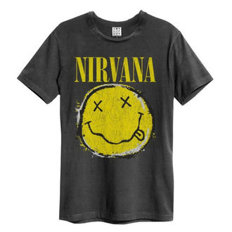 t-shirt metal uomo Nirvana - Worn Out Smiley - AMPLIFIED, AMPLIFIED, Nirvana