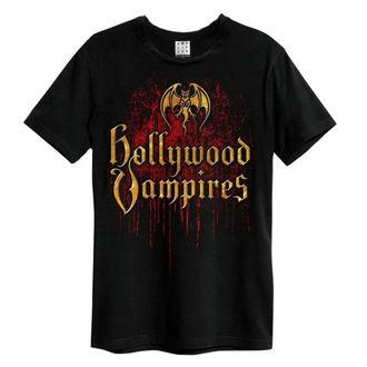 t-shirt metal uomo Hollywood Vampires - Bat Blood Logo - AMPLIFIED, AMPLIFIED, Hollywood Vampires