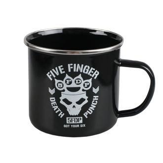 Tazza smaltata Five Finger Death Punch - Got Your Six, NNM, Five Finger Death Punch