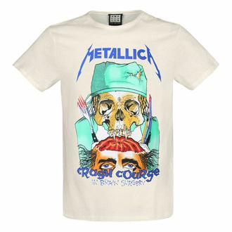 maglietta da uomo CRASH COURSE - VINTAGE WHITE - AMPLIFIED, AMPLIFIED, Metallica