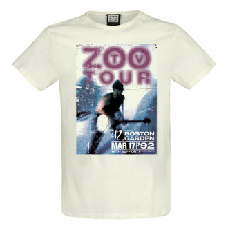 maglietta da uomo U2 - ZOO TV TOUR - VINTAGE WHITE - AMPLIFIED, AMPLIFIED, U2