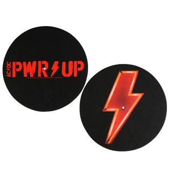Grammofono pastiglie (set 2 pezzi)  AC  /  DC  - POWER UP - Slipmat - RAZAMATAZ, RAZAMATAZ, AC-DC