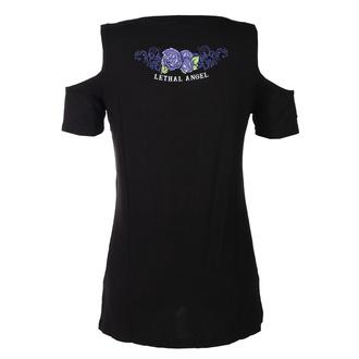 t-shirt hardcore donna - ANGEL PURPLE SKULL - LETHAL THREAT, LETHAL THREAT