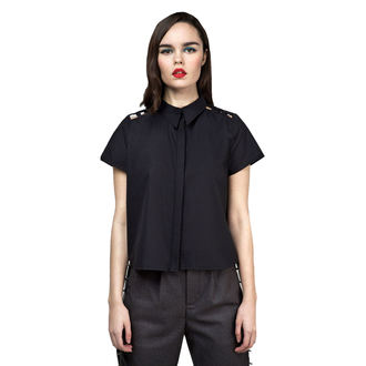 camicia da donna DISTURBIA - Abstract Crop - Nero, DISTURBIA