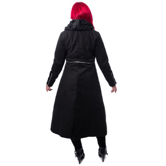 Cappotto da donna POIZEN INDUSTRIES - ADERYN COAT - NERO, POIZEN INDUSTRIES