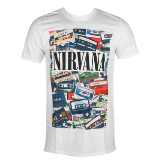 Maglietta da uomo Nirvana - Cassettes - ROCK OFF, ROCK OFF, Nirvana