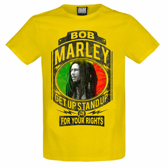 maglietta da uomo BOB MARLEY - FIGHT FOR YOUR RIGHTS - YEL LOW RAVEN - AMPLIFIED, AMPLIFIED, Bob Marley