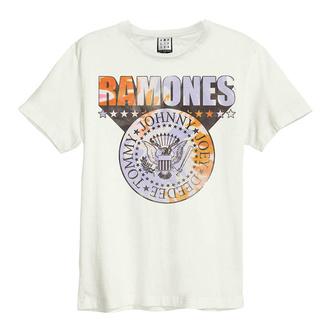 Maglietta da uomo RAMONES - TIE DYE SHIELD - VINTAGE WHITE - AMPLIFIED, AMPLIFIED, Ramones
