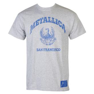 Maglietta da uomo Metallica - College Crest - Grigio, NNM, Metallica