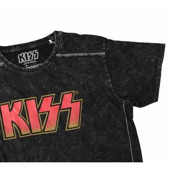 Maglietta da uomo KISS - Logo classico - Lavaggio della neve - ROCK OFF, ROCK OFF, Kiss