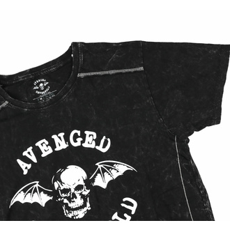 Maglietta da uomo Avenged Sevenfold - Logo - Snow wash- ROCK OFF, ROCK OFF, Avenged Sevenfold