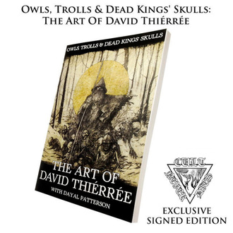 Libro Owls, Trolls, Dead Kinga's Skulls: Art Of David Thiérrée (autografato), CULT NEVER DIE