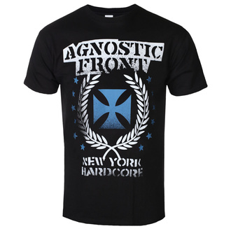 t-shirt metal uomo Agnostic Front - BLUE IRON CROSS - PLASTIC HEAD, PLASTIC HEAD, Agnostic Front