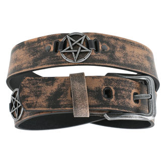 Cintura Pentagramma - brown, JM LEATHER