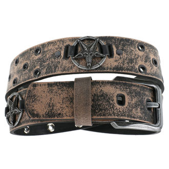 Cintura Baphomet - brown, JM LEATHER