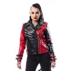 giacca di pelle donna - ASYLUM BIKER - HEARTLESS, HEARTLESS