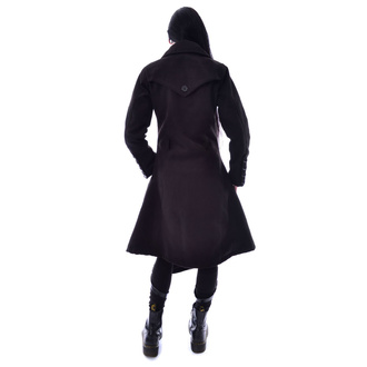 Da donna cappotto POIZEN INDUSTRIES - AUSTRA - NERO, POIZEN INDUSTRIES