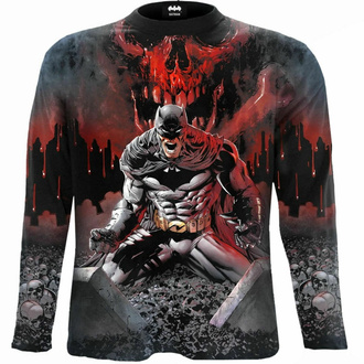 Maglietta da uomo a maniche lunghe SPIRAL - Batman - ASYLUM WRAP - Nero, SPIRAL