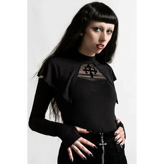 Maglietta da donna a maniche lunhe KILLSTAR - Aysling Cape - Nero, KILLSTAR