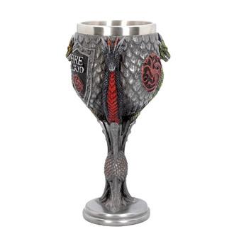 Calice Game of thrones - House Targaryen, NNM, Il trono di spade