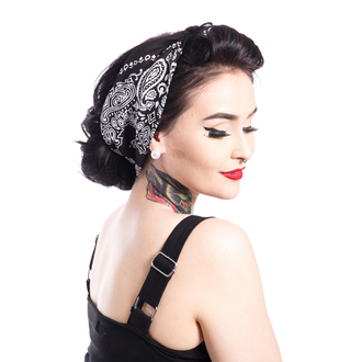fazzoletto ROCKABELLA - BAND ONE BANDANA - NERO, ROCKABELLA