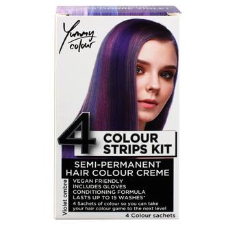 Tinta per capelli STAR GAZER - Yummy Colour 4 Color Strips Kit - Viol, STAR GAZER