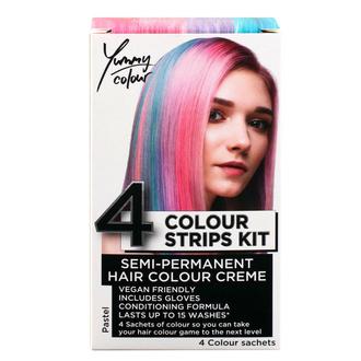 Tinta per capelli  STAR GAZER - Yummy Colour 4 Colour Strips Kit - Pastello, STAR GAZER