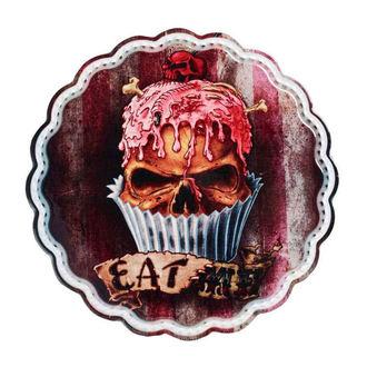 Decorazione (piatto da portata / sottopentola) ALCHEMY GOTHIC - Skull Cupcake, ALCHEMY GOTHIC