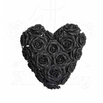 Decorazione ALCHEMY GOTHIC - Black Rose Heart, ALCHEMY GOTHIC