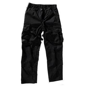 pantaloni uomo STIVALI & BRETELLE - Cerniera Nightmare - Nero - 300616, BOOTS & BRACES