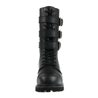 stivali in pelle unisex - Phantom Boots with Buckle - BRANDIT, BRANDIT
