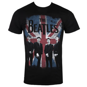 t-shirt metal uomo Beatles - UNION JACK DIST BLK - BRAVADO, BRAVADO, Beatles