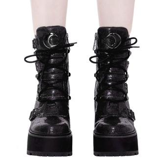 Stivaletti da donna KILLSTAR - Broom Rider Boots - NERO GLITTER, KILLSTAR