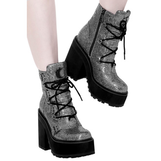 Stivaletti da donna KILLSTAR - Broom Rider Boots - ARGENTO GLITTER, KILLSTAR