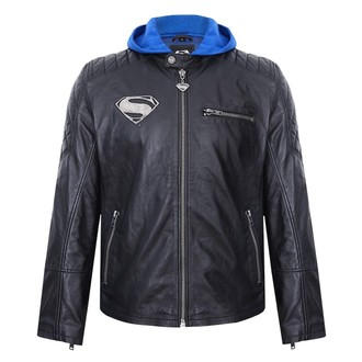 giacca di pelle Superman - BLACK -