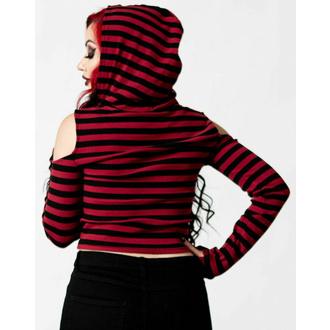 Maglietta da donna a maniche lunghe KILLSTAR - Cause Of Death Knit - nero / rosso , KILLSTAR